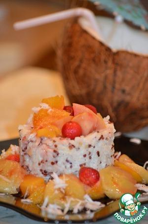 Рецепт Гавайский пудинг с рисом и киноа
