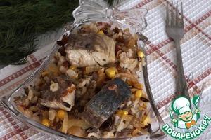 Рецепт Жареный рис с тунцом