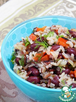 Рецепт Салат с рисом и фасолью