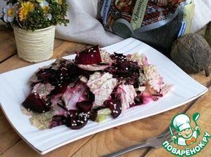 Рецепт Дикий рис со свеклой и капустой