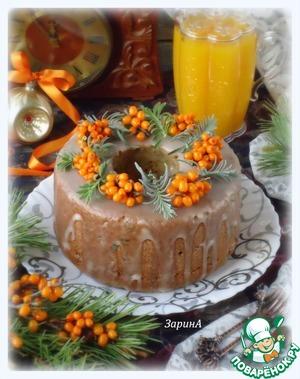 Рецепт Праздничный тыквенно-облепиховый кекс