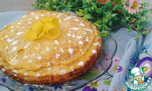 Цитрусовый блинный торт
