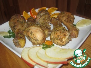 Рецепт Ромовые куриные ножки с ароматом трав