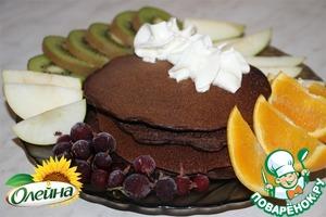 Как приготовить Блинчики шоколадные простой рецепт с фотографиями