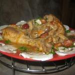 Курица в сметанно-фасолевом соусе