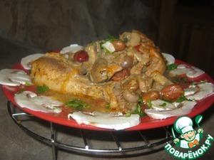 Готовим Курица в сметанно-фасолевом соусе простой рецепт с фотографиями пошагово