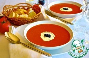 """Рецепт Томатный суп """"Кровавая Мэри"""""""