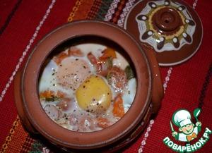 Рецепт Запечённые яйца в горшочках