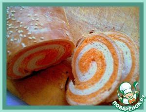 Рецепт Пшенично-томатный хлеб «Завитушки»