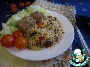 Рецепт Рагу с рисом и фрикадельками по-восточному