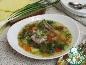 Рецепт Овощной суп со свининой