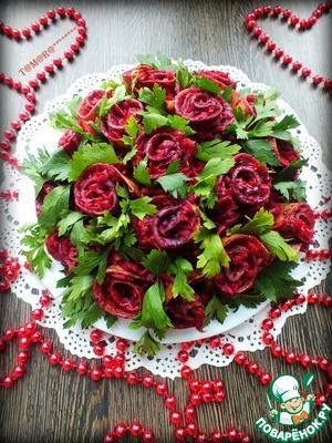"Рецепт Салат ""Букет роз"""