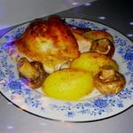 Курица с картофелем и шампиньонами