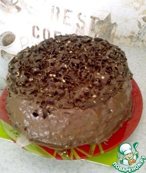 """Рецепт Низкокалорийный торт """"Кофе, какао и яблоко"""""""