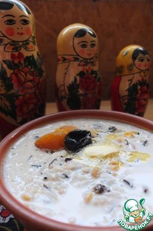 Рецепт Суп молочный с сухофруктами