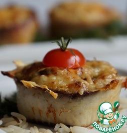 Рецепт Горячая закуска из рыбы с рисом