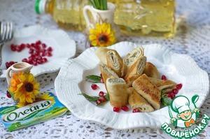 Рецепт Блинчики с паштетом из скумбрии