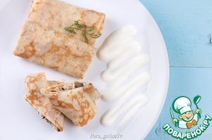 Рецепт Блинчики с солеными груздями