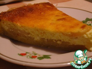 Рецепт Пирог с грушами и творогом