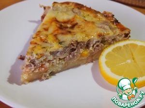 Рецепт Картофельный пирог с тунцом