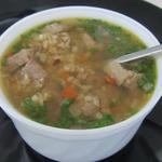 Суп из баранины с полбой