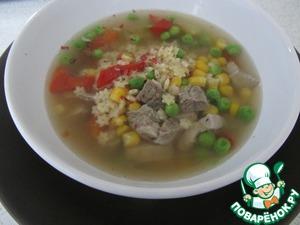 Рецепт 10-минутный суп из баранины с пастой