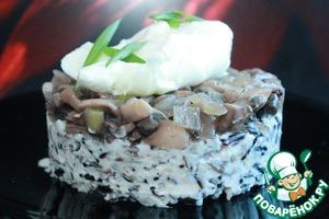 Рецепт Дикий рис в сливочном соусе с яйцом пашот