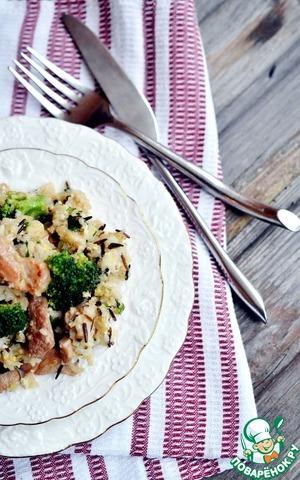 Рецепт Жареный рис с яйцами, брокколи и свининой