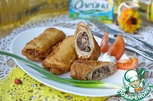Рецепт Блинчики с куриными субпродуктами