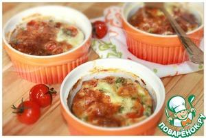 Рецепт Рисовая запеканка с тунцом и помидорами черри