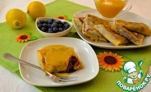 Рецепт Блинчики с черникой и горячим лимонным соусом