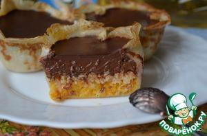 Рецепт Мандариновые тарталетки с шоколадом