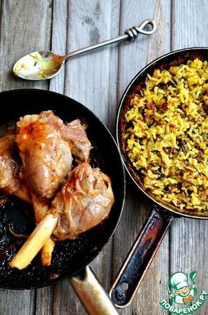 Рецепт Бараньи ноги с рисом соте