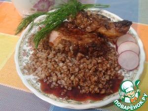 Рецепт Антрекот из свинины под винным соусом