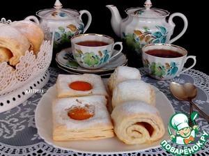 Рецепт Экспресс-слойки с абрикосами и яблоками