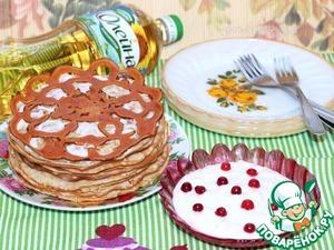 Рецепт Блинчики с сырным соусом