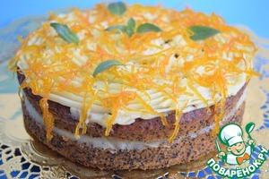 Рецепт Апельсиново-маковый торт