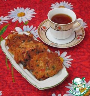 Рецепт Закусочные крабовые оладьи