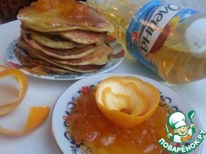 """Рецепт Ароматные оладьи с соусом """"Апельсиновый Рай"""""""