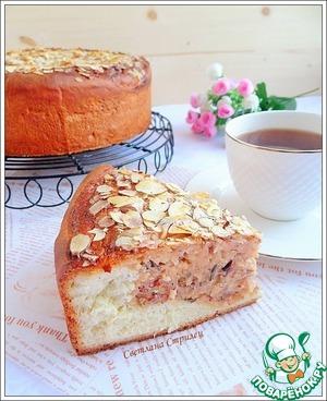 Рецепт Пирог с рисом, пудингом и миндалем