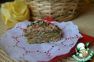 Рецепт Закусочный ПП-блинный торт
