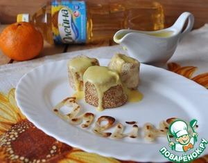 Рецепт Блинчики с мандариново-миндальным соусом