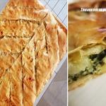 Греческий пирог со шпинатом из тесто фило