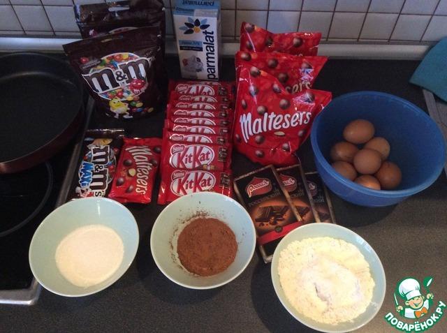 торт с киткатом и ммдемс рецепт с фото