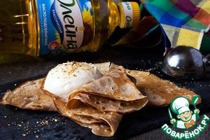 Рецепт Каштановые блины с медовым кремом