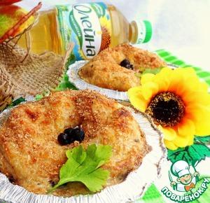 Рецепт Блины с грибами и солеными огурцами