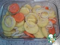 Кефаль в фольге с картофелем и зеленью ингредиенты