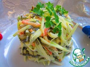 Рецепт Салат с морской капусты и зеленой редькой