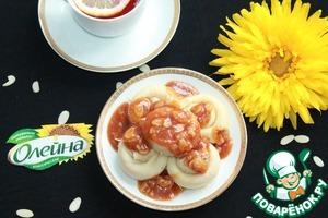 Рецепт Блинчики с медово-карамельным соусом