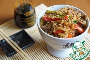 Рецепт Говядина с киноа на китайский манер